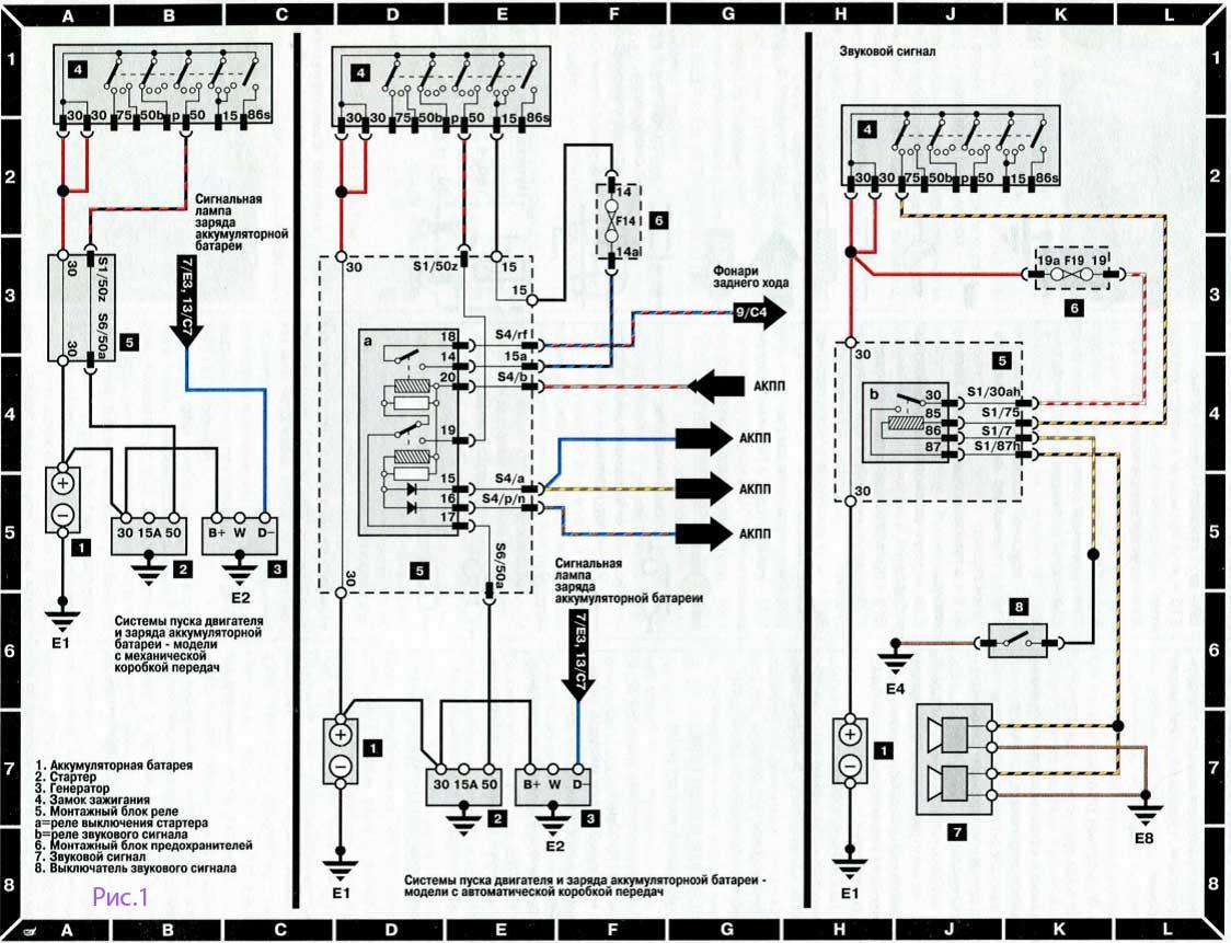 схема на генератор ауди сто
