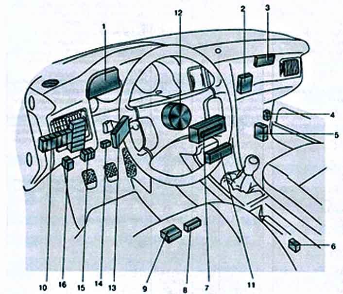 Цветная схема электрооборудования Audi 80 B4 и B3 100 C3 A6 C4 и C5 с описанием проводки
