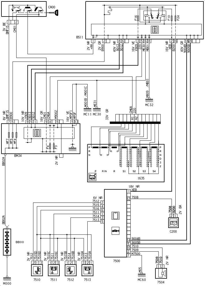 Принципиальная схема ситроен с5