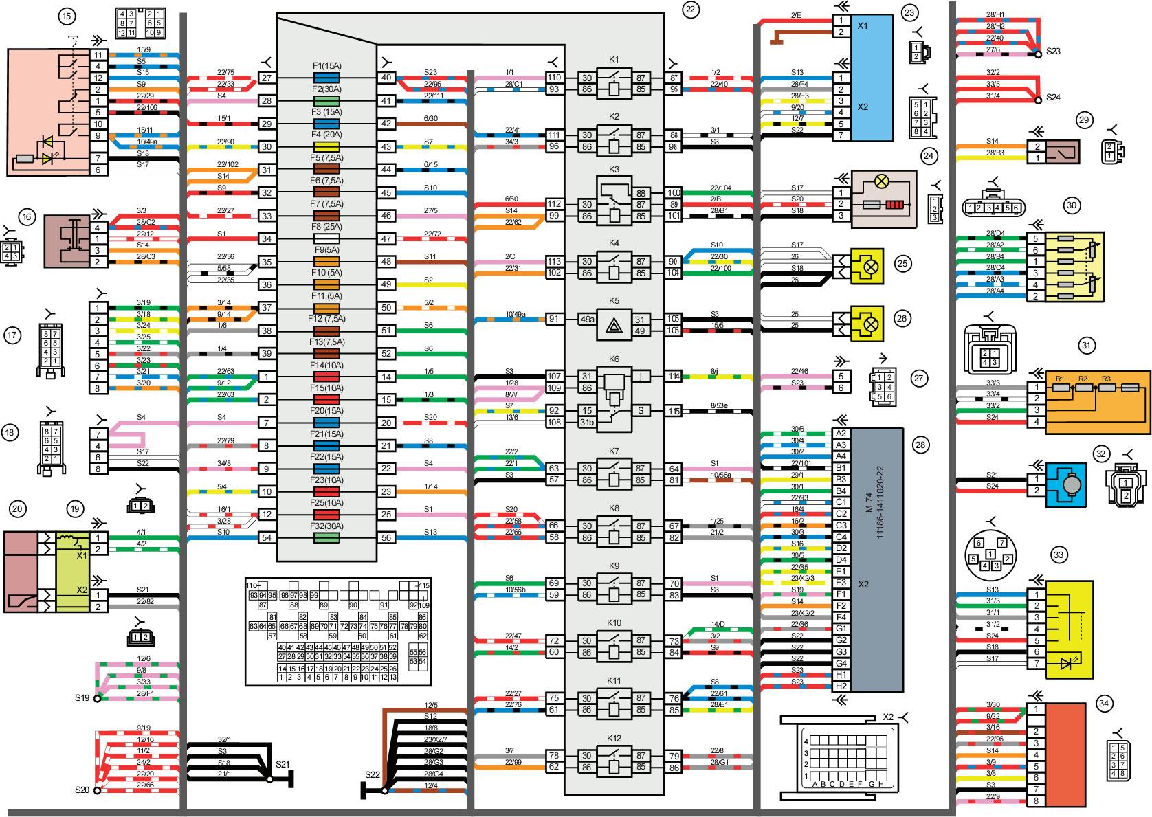 Схема провода сигнал лады гранты