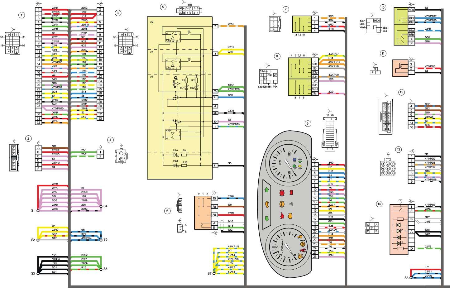 схема электропроводки подогрева сидений ваз 2190