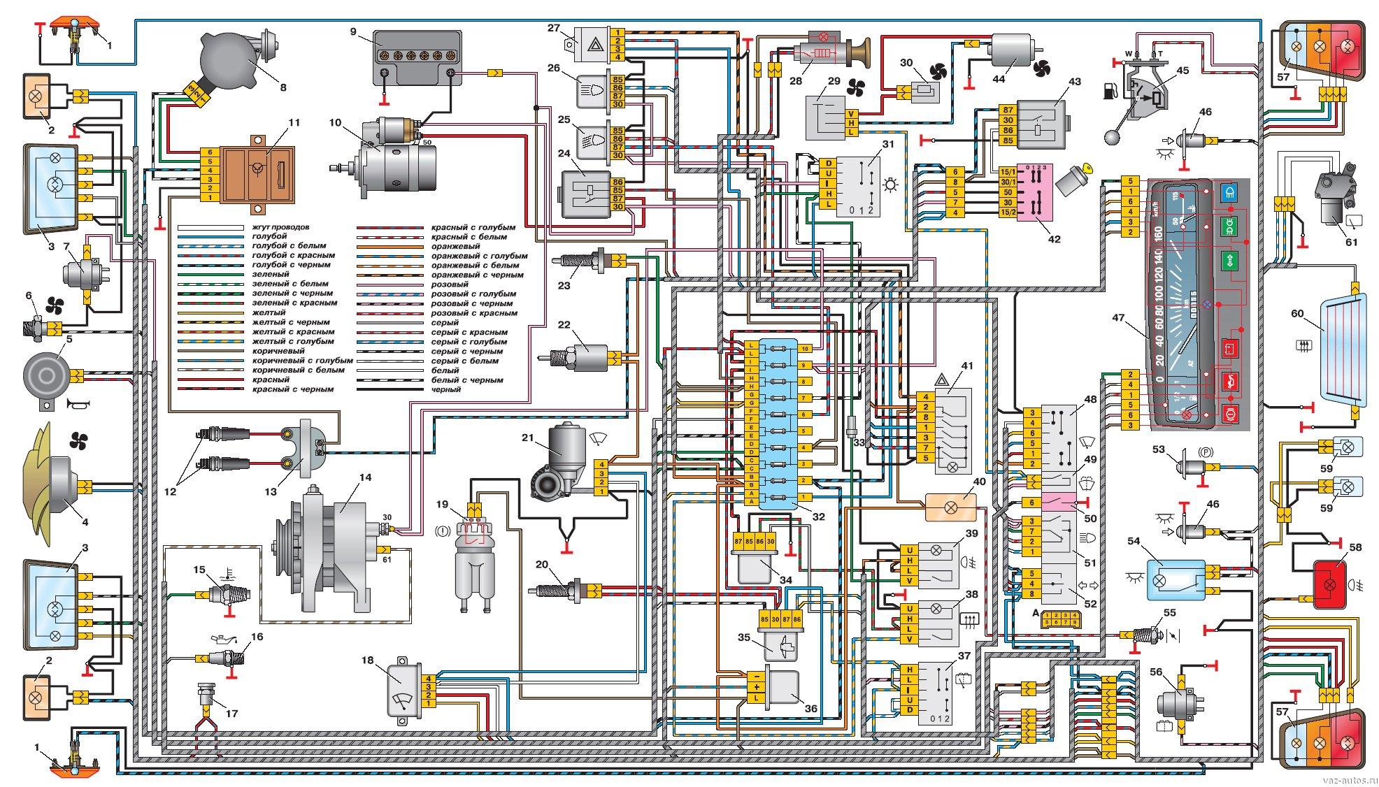 Схема электропроводки ока